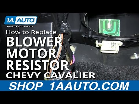 How To Install Replace AC Heater Fan Speed Resistor 1995-02 Chevy Cavalier