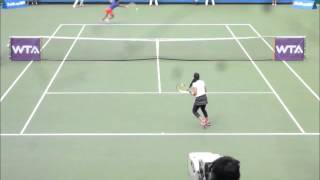 ■ JAPAN WOMEN'S OPEN TENNIS 2014 ■ Zarina DIYAS VS Luksika KUMKHUM part1