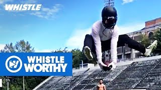 Top 10 INSANE Trick Football Catches by Whistle Sports