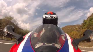 4. Honda CBR1000RR riding on mountain roads