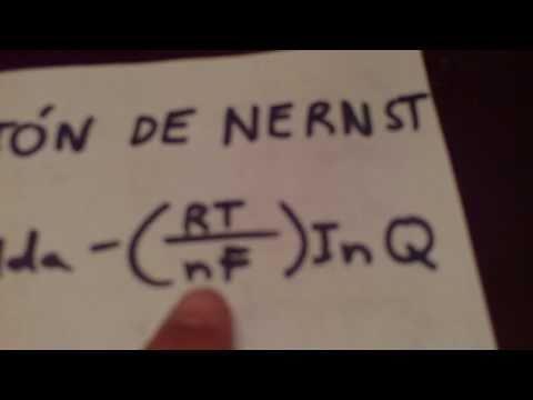 ecuacion de nernst}