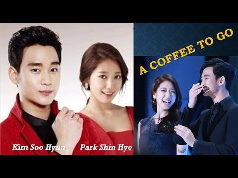 "Kim Soo Hyun and Park Shin Hye ""A Coffee To Go"""