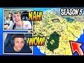 NINJA n MYTH REACT TO *NEW* SEASON 5 MAP! Fortnite FUNNY n SAVAGE Moments
