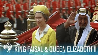 Video King Faisal Arrives to a Royal Welcome by Queen Elizabeth II (1967) | British Pathé MP3, 3GP, MP4, WEBM, AVI, FLV April 2018