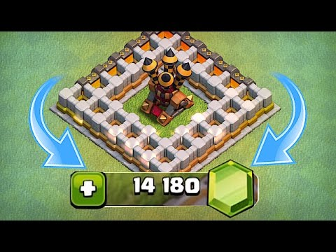 NEW UPDATE LVL 9 AIR DEFEN$E🔸100$ GEM SPREE🔸Clash Of Clans (видео)