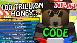 *NEW* OP CODE - 100 TRILLION HONEY!! | Roblox Bee Swarm