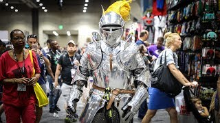 Adam fulfills his lifelong dream of becoming King Arthur from the film Excalibur at San Diego Comic-Con! This year's costume is a ...