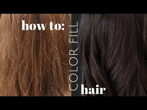 Hair color - how to COLOR FILL hair