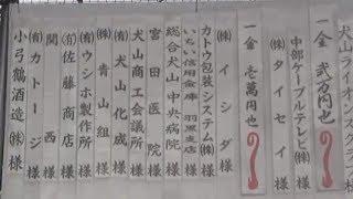 第21回羽黒夏祭り11協賛芳名と開会挨拶