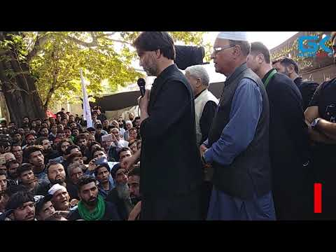 Yasin Malik participates in Muharram procession, reiterates election boycott call