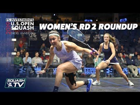 Squash: U.S. Open 2019 - Women's Rd 2 Roundup