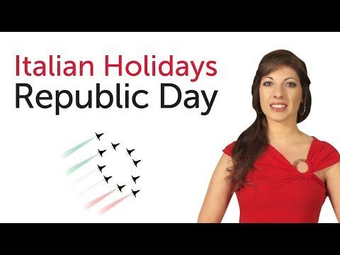 Learn Italian Holidays - Republic Day - Festa della Repubblica