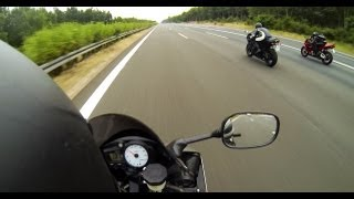5. Kawasaki Ninja ZX-6R vs Yamaha R6 vs Honda CBR 600 RR - Acceleration [1080p]