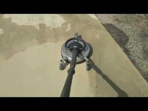 出雲市 外構 エクステリア 庭 タイヤ跡除去 アプローチ洗浄