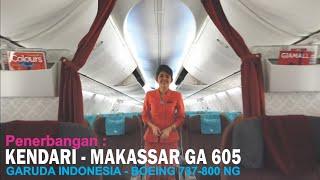 Garuda Indonesia Kendari - Makassar GA 605, Pesawat Boeing 737-800