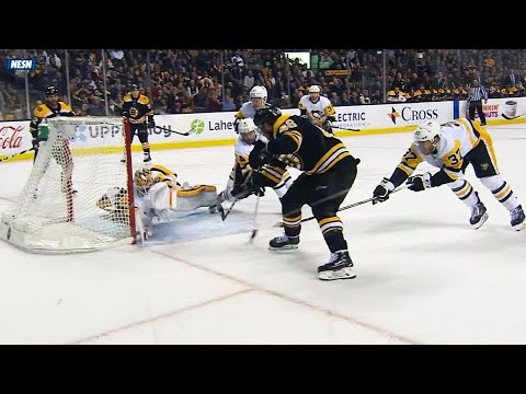 Video: Krejci completes hat trick after Gionta's sweet redirect pass