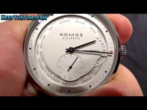 keepthetime - http://www.keepthetime.com - Quick demonstration of the NOMOS Zürich Weltzeit (ref: 805) with an in-house Xi caliber automatic movement featuring a world tim...