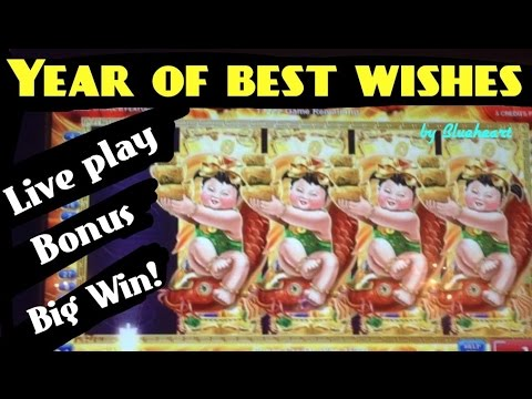 YEAR OF BEST WISHES slot machine LIVE PLAY/BONUS BIG WIN!