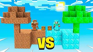 NOOB SKYBLOCK vs PRO SKYBLOCK ISLAND IN MINECRAFT!