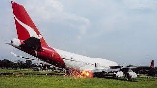 Video Boeing 747 Crash in Bangkok | Miracle in Thailand | Qantas Flight 1 MP3, 3GP, MP4, WEBM, AVI, FLV November 2018