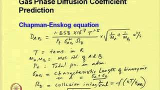 Mod-01 Lec-07 Diffusion Coefficient: Measurement and Prediction Part II