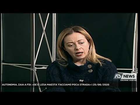 AUTONOMIA, ZAIA A FDI: «SE E' LESA MAESTA' FACCIAMO POCA STRADA» | 25/06/2020