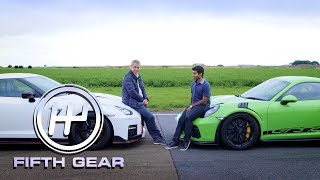 Porsche 911 GT3 RS Vs Nissan GTR Nismo - the track test   Fifth Gear by Fifth Gear