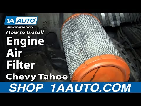 How To Install Replace Change Engine Air Filter 1996-99 Chevy Tahoe