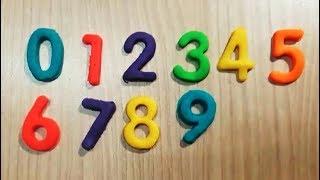 dạy bé học đếm số bằng trò chơi đất sét nặn Play-doh đồng thời Dạy bé nhận biết màu sắc của kênh PA channel...