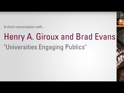 Brad Evans and Henry Giroux: Intellectuals in the Public Sphere