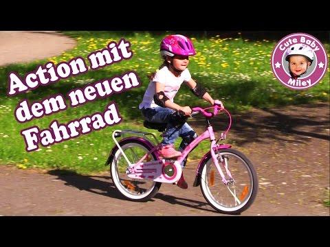 Action & Fun mit Miley's neuem Fahrrad - Kinderfahrrad   CuteBabyMiley
