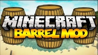 Minecraft: BARRELS! (Holds THOUSANDS of Blocks!) | Mod Showcase (1.6.4)