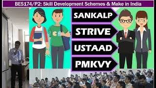 Here is the list of one dozen skill related scheme of Modi Government, which are covered in my lecture.1. Skill Acquisition and Knowledge Awareness for Livelihood Promotion Programme. (SANKALP)2. Skill strengthening for industrial value enhancement (STRIVE) 3. Pradhan Mantri's Kaushal Vikas Yojana 4. D D Gramin Kaushal Yojana5. Antyodaya Yojana for skilling Urban Poor6. Ustaad: Up gradation of Traditional Skills in Arts, Resources and Goods 7. Sikho aur Kamaao 8. Nai Manzil 9. Udan scheme for Jammu Kashmir10. Himayat scheme for Jammu Kashmir11. Roshni Scheme for LWE12. PM employment Generation SchemePlus, Make in India and some misc. schemes for innovation and incubation such as- SIP, UAV, NIDHI.- Faculty Name: You know who - All Powerpoint available at http://mrunal.org/powerpoint- Exam-Utility: UPSC IAS IPS Civil service exam, Prelims, CSAT, Mains, Staff selection SSC-CGL, IBPS-PO/MT, IBPS-CWE, SBI PO & Clerk, RBI and other banking exams; LIC, EPFO, FCI & other PSU exams; CDS, CAPF and other defense services exams; GPSC, MPPCS, RPSC & other State PCS services exams with Indian Economy, Budget, Banking, Public Finance in its syllabus- with descriptive questions and answer writing.