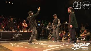 Funky Bee (Ringo Winbee & Yu-to) vs Jenes + Yuta – JUSTE DEBOUT TOKYO 2020 POPPING BEST4 (Another angle)