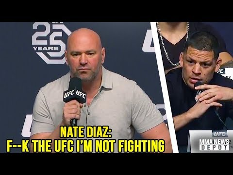 Nate Diaz storms off stage after Conor vs Khabib announcement; UFC Press Conference LA Highlights