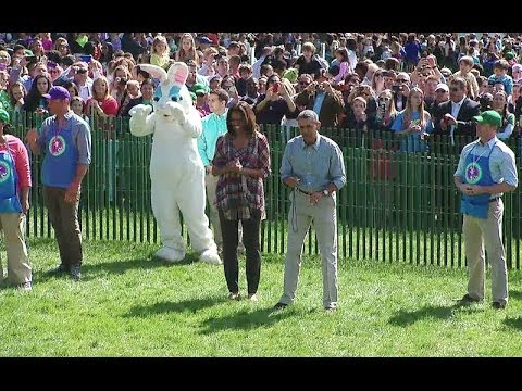 Roll - President Obama participates in the signature event at the White House Easter Egg Roll. April 21, 2014.