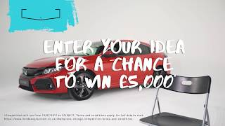 All great ideas begin with a moment of inspiration. We listen to a few examples and invite you to share your own as part of our Champions for Change competition.To celebrate the release of the groundbreaking tenth generation Honda Civic, we're launching a 'Champions for Change' competition in which someone with a brilliant business idea can win £5,000! Visit www.hondaengineroom.co.uk to enter.*Competition will run from 13/07/2017 to 20/08/17. Terms and conditions apply, for full details visit: https://www.hondaengineroom.co.uk/champions-change-competition-terms-and-conditions.