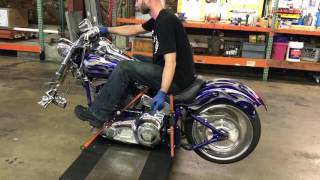 10. 2004 Harley Davidson Softail Deuce CVO (blue) 1881 Fallen Cycles