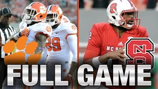 Clemson vs. NC State: Full Game  2015 ACC Football