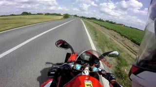 4. APRILIA RS 125 {review, accleration, top speed, knee down,  fast ride }, Gopro