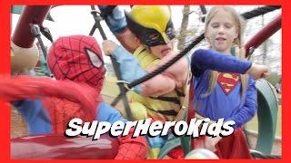 SuperHeroKids Channel Trailer | Spiderman vs Venom, Supergirl vs Wolverine Battle in Real Life Movie