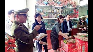 Đoàn kiểm tra liên ngành tỉnh kiểm tra VSATTP tại phường Quang Trung
