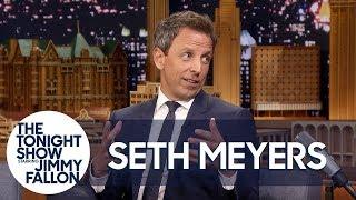 Video Seth Meyers Recounts His Baby's Dramatic Apartment Lobby Birth MP3, 3GP, MP4, WEBM, AVI, FLV Desember 2018