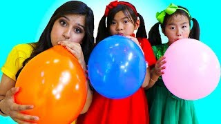 Video Emma & Jannie Pretend Play Fun Playtime with Magic Color Balloons MP3, 3GP, MP4, WEBM, AVI, FLV Juni 2019