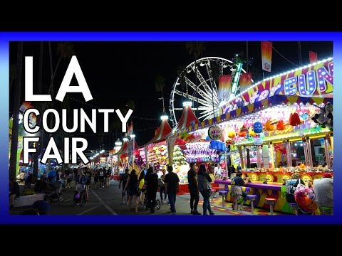 LA County Fair | a night of rides, food and pig racing at the county fair