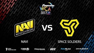 FarmSkins WCA 2017 || Natus Vincere vs Space Soldiers map1 cbble || @Toll @Deq