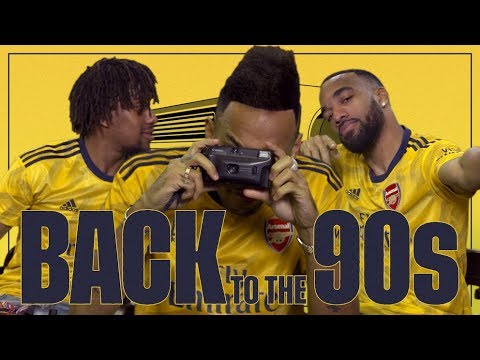 Arsenal Players Take On A 90s Challenge | Arsenal Away Jersey 2019/20