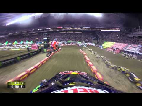 event - 100% on the HERO3+® camera from http://GoPro.com. Watch James Stewart during the main event at the fifteenth round of the 2014 Monster Energy Supercross from...