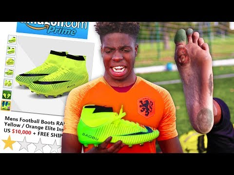 I Bought The WORST Reviewed Football Boots On Amazon & Got Scammed