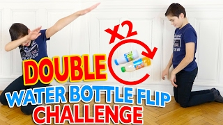 Video DOUBLE WATER BOTTLE FLIP CHALLENGE FR 💦 | Mère VS Fils MP3, 3GP, MP4, WEBM, AVI, FLV Mei 2017